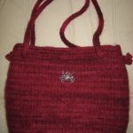 Ivy Bag - great size made with lamb's Pride wool yarn